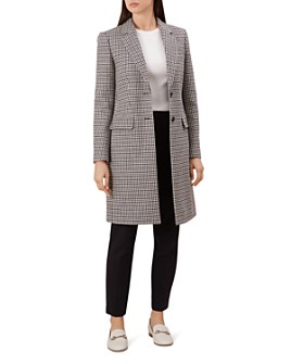 HOBBS LONDON - Tilda Houndstooth Coat - 100% Exclusive