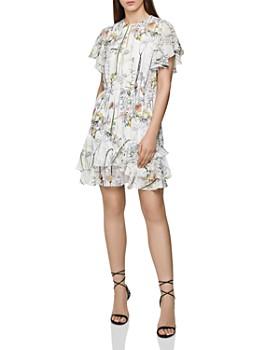 REISS - Juno Flounced Floral Dress