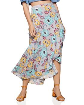 BCBGENERATION - Asymmetric Floral Skirt