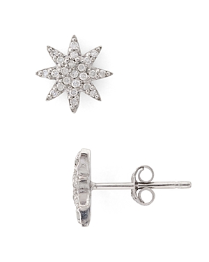 Bloomingdale's Marc & Marcella Diamond Starburst Stud Earrings in Sterling Silver - 100% Exclusive
