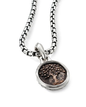 David Yurman - Sterling Silver & Bronze Extra Small Tree Of Life Amulet