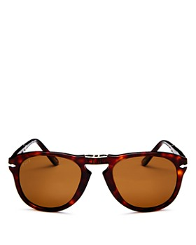 Persol - Men's Vintage Icons Polarized Foldable Round Sunglasses, 52mm