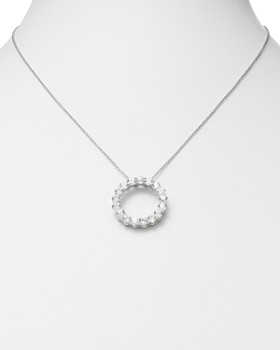 Bloomingdale's - Diamond Circle Pendant in 14 Kt. White Gold, 3.0 ct. t.w.- 100% Exclusive