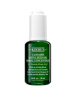 What It Is: A lightweight, calmative facial oil formulated with Cannabis Sativa Seed Oil. What It Does: Inspired by Kiehl\\\'s heritage as an old-world apothecary, this herbaceous elixir is formulated with 100% naturally-derived* ingredients including cold-pressed Cannabis Sativa Seed Oil and Green Oregano Oil. Uniquely formulated for problem skin such as oily and blemish-prone skin* this efficacious herbal concentrate for relieving visible redness and the appearance of discomfort. Over time it als
