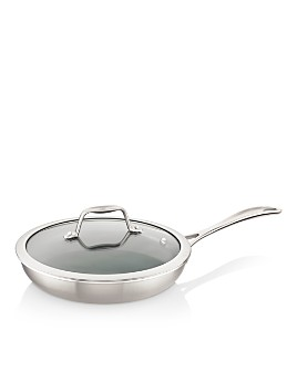 "Zwilling J.A. Henckels - Spirit 2-Piece Stainless Steel Ceramic Nonstick 9.5"" Fry Pan with Lid Set"