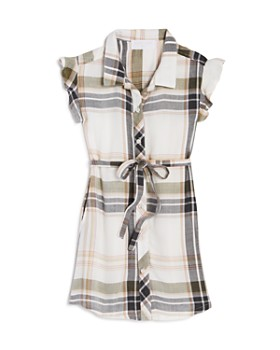 Bella Dahl - Girls' Plaid Shirt Dress - Little Kid, Big Kid