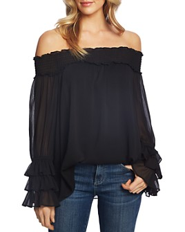 CeCe - Smocked Off-the-Shoulder Blouse