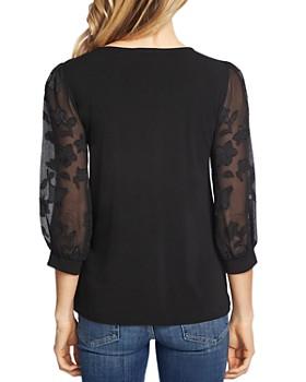 CeCe - Lace-Sleeve Top
