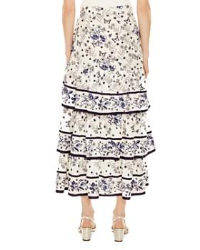 Sandro - Lipa Asymmetric Tiered Ruffled Skirt