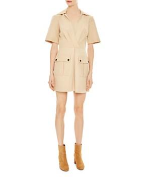 Sandro - Kassandre Safari-Inspired Mini Dress