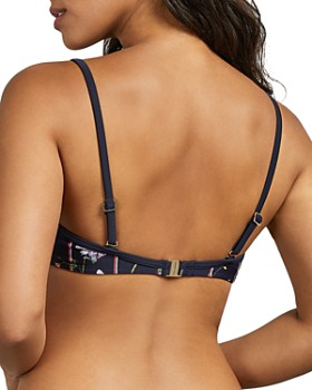 Ted Baker - Marijo Hedgerow-Print Balconette Bikini Top