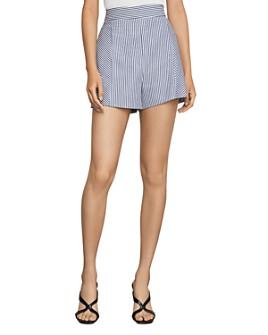 BCBGMAXAZRIA - BCBGMAXAZRIA Striped High-Waist Shorts