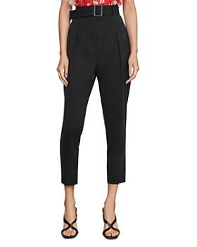 BCBGMAXAZRIA - Pleated High-Waist Pants