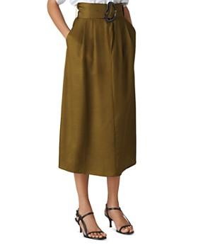 Whistles - Rosita Belted Midi Skirt