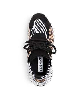 STEVE MADDEN - Girls' JCliff Mixed-Media Low-Top Platform Sneakers - Little Kid, Big Kid