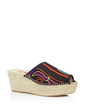RESPOKE - Women's Salma Platform Wedge Espadrille Slide Sandals