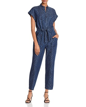 Rebecca Taylor - Faune Animal-Print Denim Jumpsuit