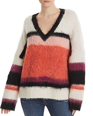 Cinq À Sept Sweaters CINQ A SEPT ISABELLA STRIPED & COLOR-BLOCKED SWEATER