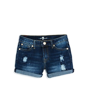 50fa32b10c 7 For All Mankind - Girls' Cuffed Denim Shorts - Little Kid, Big Kid ...