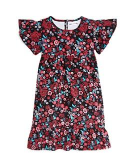 Mini Series - Girls' Floral Flutter-Sleeve Dress, Little Kid - 100% Exclusive