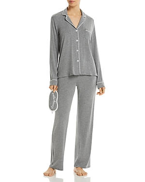 Pj Salvage JERSEY KNIT PAJAMA & EYE MASK SET