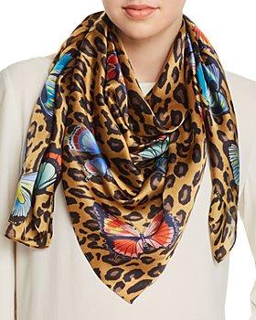Echo - Butterfly Leopard Print Silk Scarf - 100% Exclusive