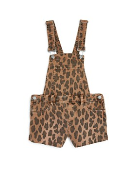 BLANKNYC - Girls' Leopard Print Overall Romper - Big Kid