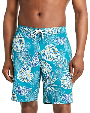 Tommy Bahama Baja Canyon Leaf-Print Swim Trunks