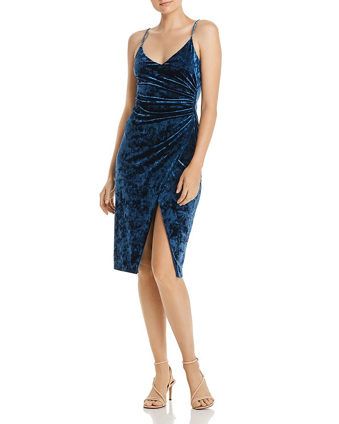 Black Halo - Bowery Ruched Velvet Dress - 100% Exclusive