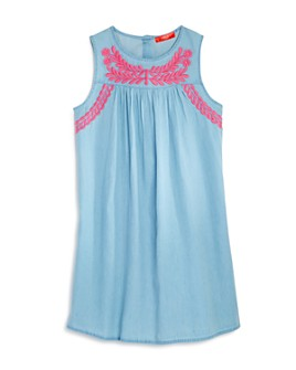 AQUA - Girls' Embroidered Dress, Big Kid - 100% Exclusive