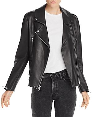 Frame Pch Leather Moto Jacket