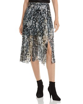 Alice and Olivia - Athena Burnout Midi Skirt