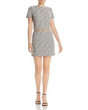 AQUA - Textured Cropped Top & Mini Skirt - 100% Exclusives