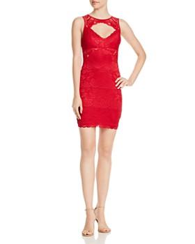 GUESS - Silvana Sleeveless Lace Cutout Dress