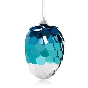 Bloomingdale's Blue Sequin Egg Ornament - 100% Exclusive