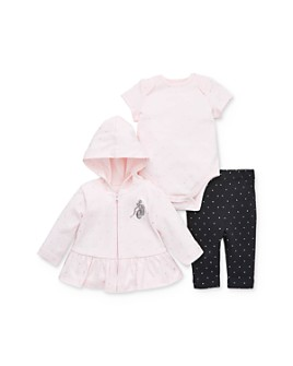 Little Me - Girls' Ballet Hoodie, Bodysuit & Leggings Set- Baby
