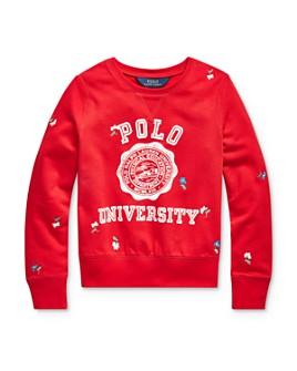 Ralph Lauren - Girls' Embroidered Graphic Sweatshirt - Big Kid