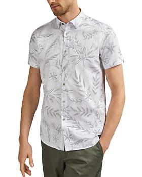 Ted Baker - Damiem Dotted Floral Slim Fit Shirt