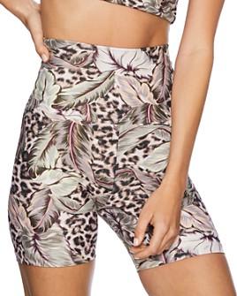 Beach Riot - Botanical Leopard Print Bike Shorts