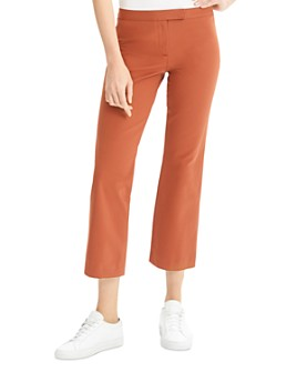 Theory - Cotton-Stretch Cropped-Flare Pants