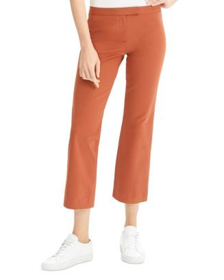cotton-stretch-cropped-flare-pants by theory