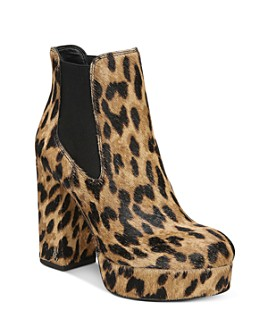 Sam Edelman - Women's Abella Leopard-Print Platform Booties