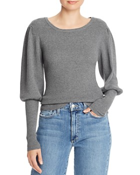 MILLY - Ribbed Juliet-Sleeve Sweater