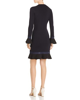Tory Burch - Lace-Trimmed Knit Dress