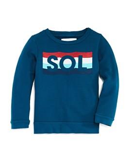 SOL ANGELES - Unisex Striped Waves Sweatshirt - Little Kid, Big Kid