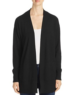 Sioni - Drop-Shoulder Open Cardigan