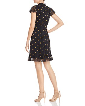 Adrianna Papell - Ruffled Neck Floral Dress
