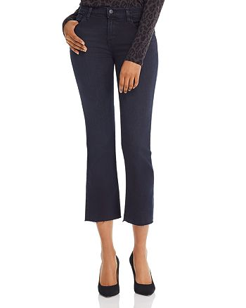 J Brand - Selena Mid Rise Crop Bootcut Jeans in Abstract