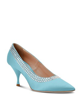 Miu Miu - Women's Crystal-Embellished Pumps