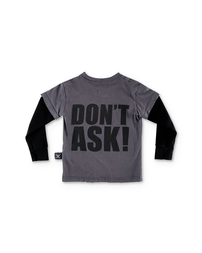 NUNUNU - Unisex Layered-Look Don't Ask Tee - Baby